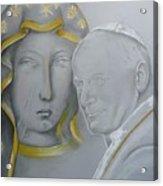 Madonna Nera E Giovanni Paolo II Acrylic Print