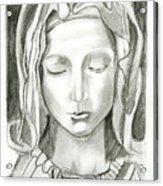 Madonna Of The Pieta Acrylic Print by John Keaton