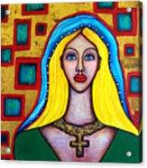 Madonna-putana Acrylic Print by Brenda Higginson