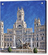 Madrid City Hall Acrylic Print by Joan Carroll