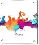 Madrid Colored Skyline Acrylic Print