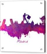 Madrid Skyline City Acrylic Print