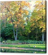 Mae Stecker Park In Shelby Township Michigan Acrylic Print