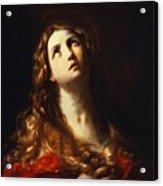 Magdalene In Penitence 1635 Acrylic Print