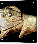 Magdalenian Carved Bison  Acrylic Print