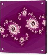 Magenta Galaxies Acrylic Print