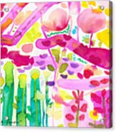 Magenta Garden In The Afternoon Acrylic Print