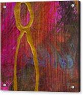 Magenta Joy Stands Alone Acrylic Print