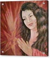 Magic - Morgan Le Fay Acrylic Print by Bernadette Wulf