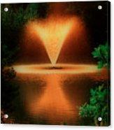 Magic Fountain  Hdr Acrylic Print