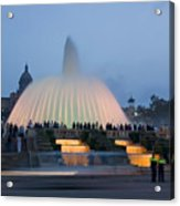 Magic Fountain In Barcelona Acrylic Print