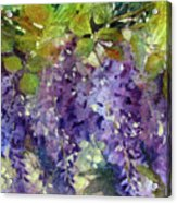 Magic In Purples And Greens Acrylic Print
