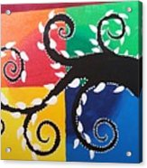 Magic Of Black With The Colourful Lake  Acrylic Print