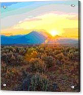 Magic Over Taos Acrylic Print