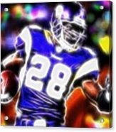 Magical Adrian Peterson   Acrylic Print by Paul Van Scott