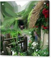 Magical English Mountain Cottage 2 Acrylic Print