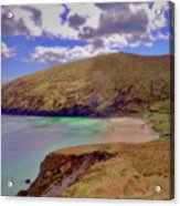 Magical Keem Beach Crowned By Clouds From Heaven Acrylic Print