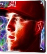 Magical Mike Trout Acrylic Print