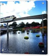 Magical Monorail Ride Acrylic Print