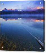 Magical Sunrise Along Sawtooth Mountain Range Stanley Idaho Acrylic Print