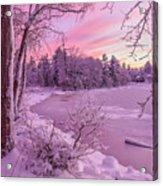 Magical Sunset After Snow Storm 1 Acrylic Print