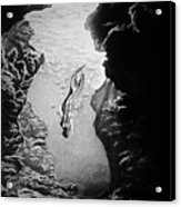 Magical Underwater Cave Acrylic Print