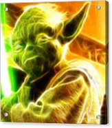 Magical Yoda Acrylic Print by Paul Van Scott