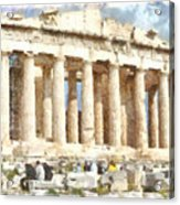Magnificent Acropolis In Athens Acrylic Print