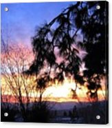 Magnificent Winter Sky Acrylic Print