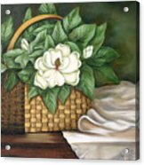 Magnolia Basket Acrylic Print