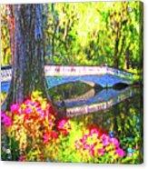 Magnolia Gardens Bridge Acrylic Print
