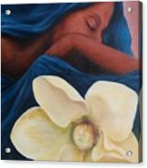 Magnolia Acrylic Print by Patricia Ann Dees