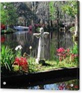 Magnolia Place Pond Acrylic Print