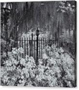 Magnolia Plantation Lightpost Acrylic Print
