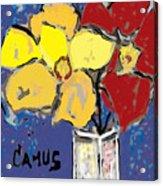 Magnolia Y Colores Acrylic Print by Carlos Camus