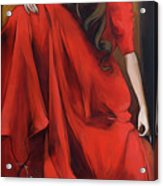Magnolia's Red Dress Acrylic Print