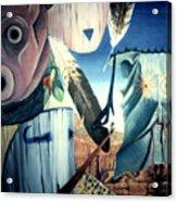 Magpie Mocks Kachinas Clowns And Fools Acrylic Print