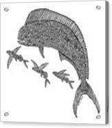 Mahi With Flying Fish Acrylic Print