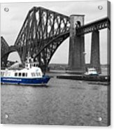 Maid Of The Forth In Blue. Acrylic Print