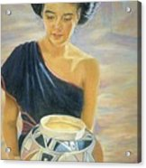 Maiden Of The Mesa Acrylic Print by Ann Peck