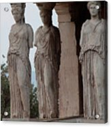 Maidens Of The Porch Acrylic Print