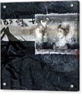 Maiko On Blue Acrylic Print