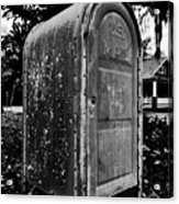 Mail Box Acrylic Print by David Lee Thompson