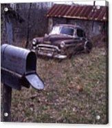 Mailbox Car Acrylic Print