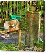 Mailbox On The Rural Country Road Acrylic Print