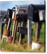 Mailboxes Acrylic Print
