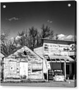 Main Street In Fort Shaw, Montana Acrylic Print