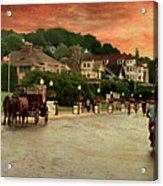 Main Street Mackinac Island Michigan Panorama Textured Acrylic Print