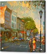 Main Street Nyack Ny  Acrylic Print by Ylli Haruni