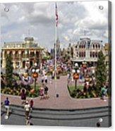 Main Street Usa Panorama Acrylic Print